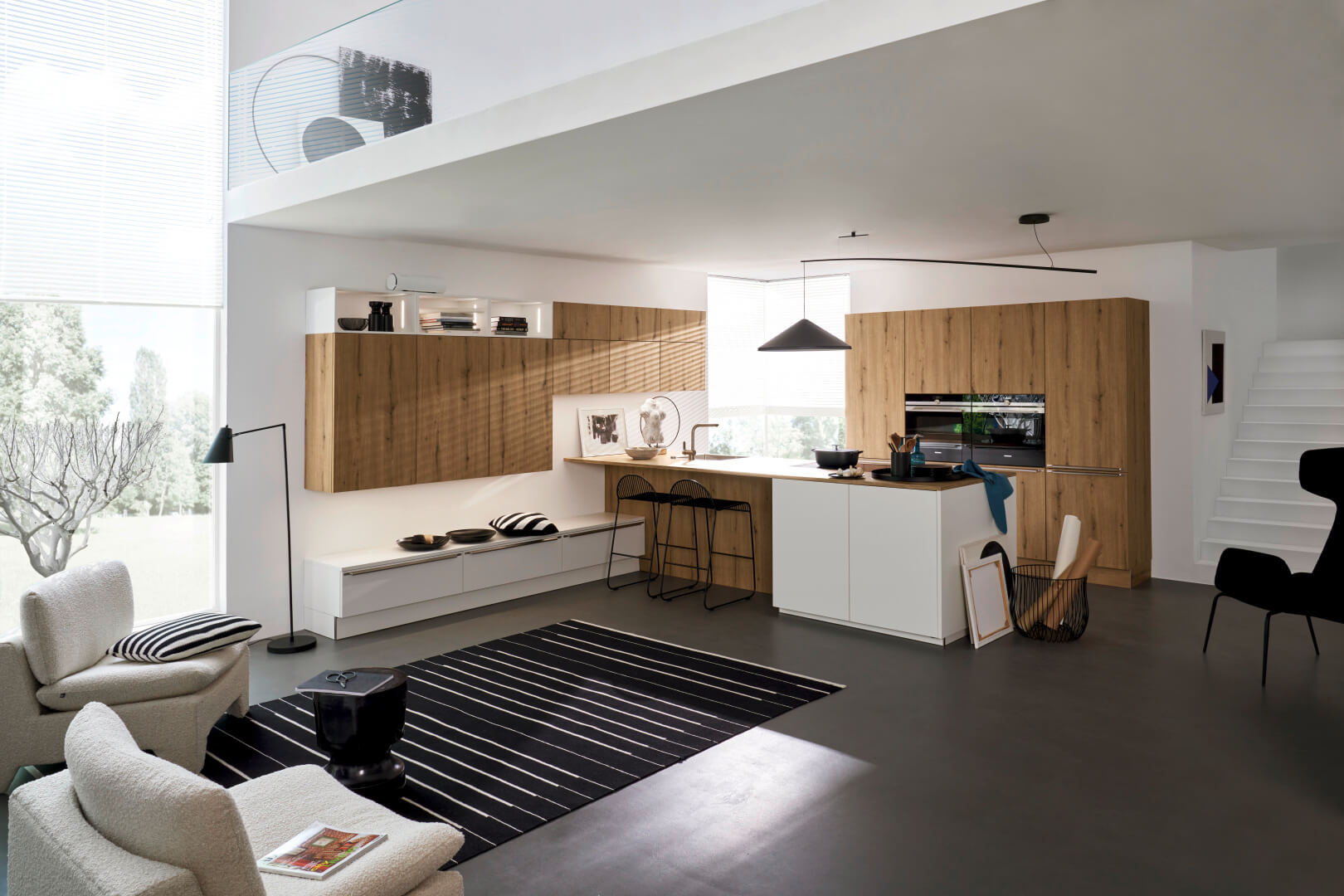 Nolte Küchen Inselküche Manhattan Vulkaneiche Soft