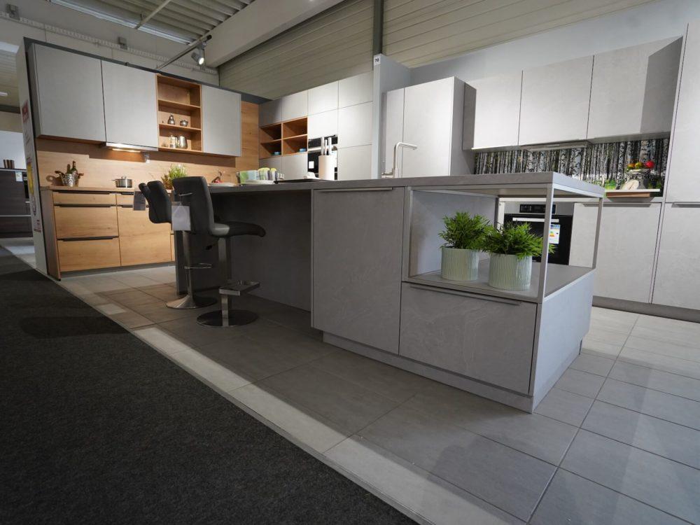 Insel Küche Beton Fronten Industrial Style