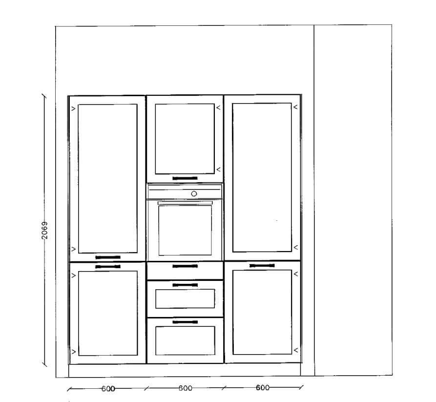 L-Form Nobilia Landhaus L-Küche weiß Lack matt