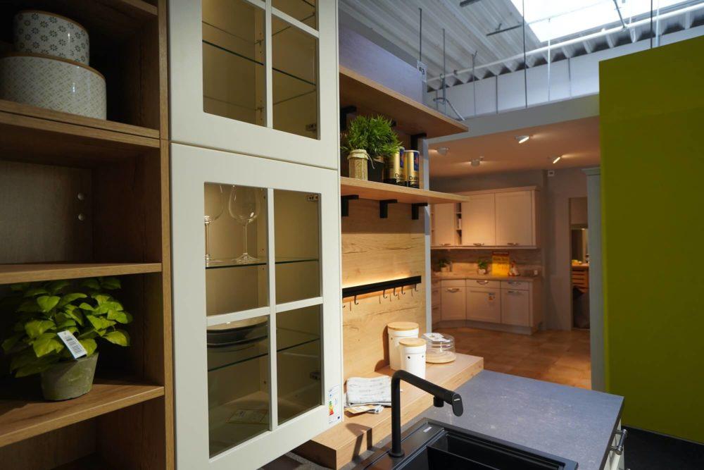 Landhaus weiß L-Form Lack matt lack Küche