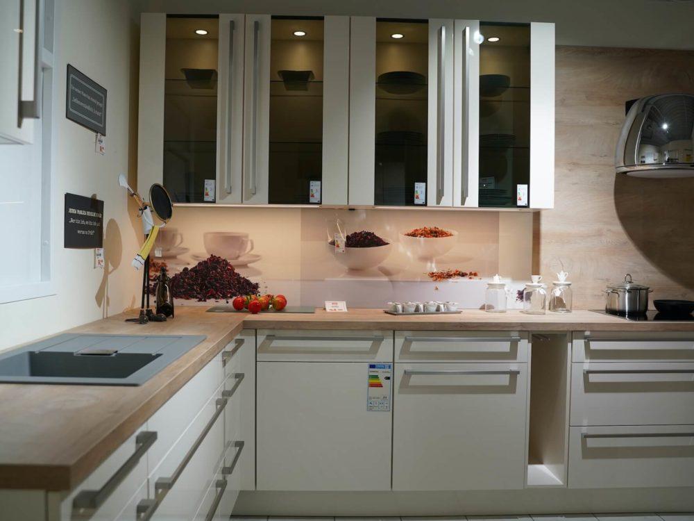 Moderne L Küche Magnolia Hochglanz