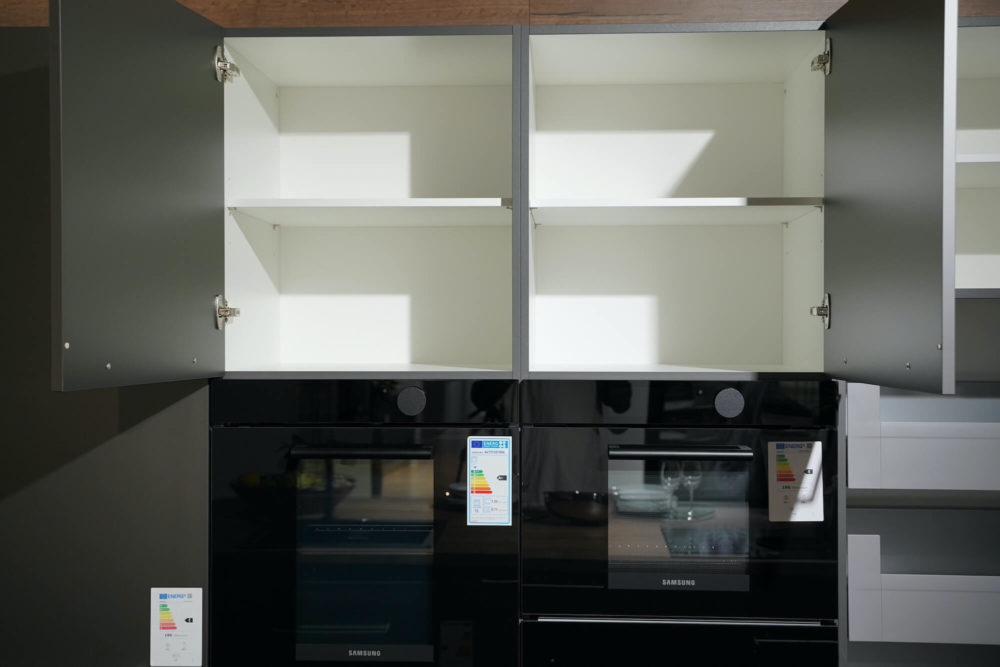 Nobilia Artis Inselküche Glas matt Titan Schiefergrau