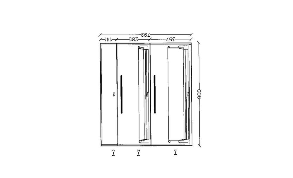 Nobilia-Inselkueche-Artis-Glas-matt-Titan-Schiefergrau