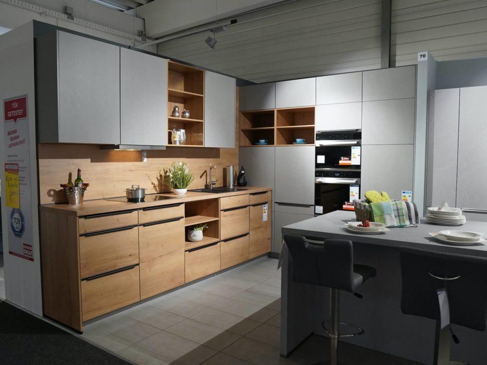 Nobilia L-Küchen modern Struktur mit Eiche Fronten