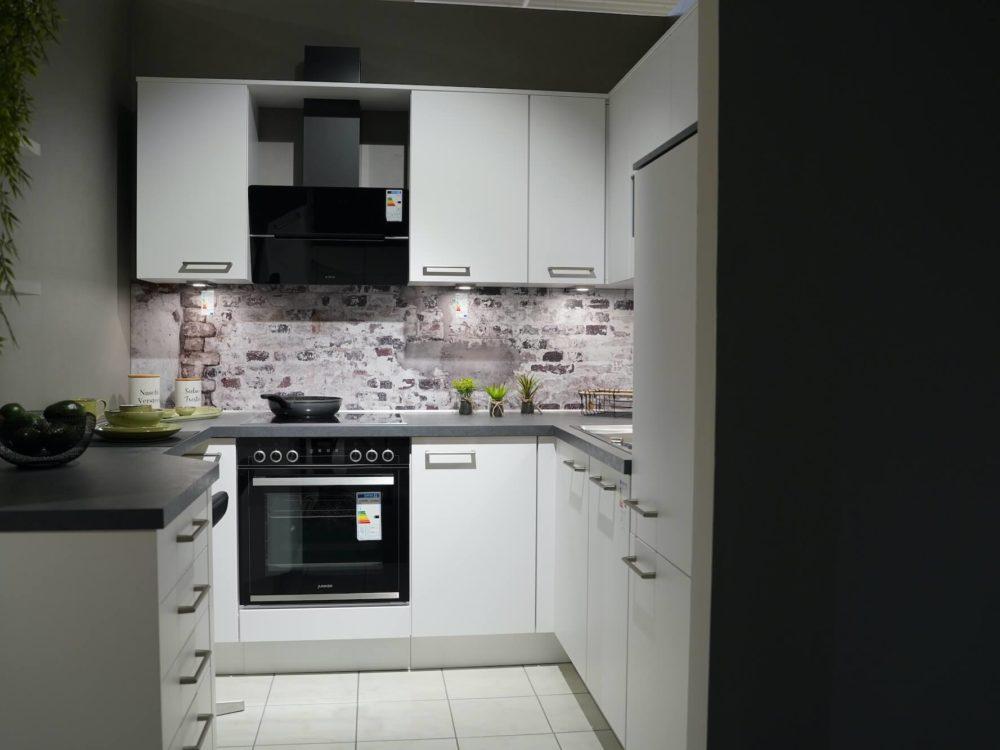 U Küche modern Lack weiß matt