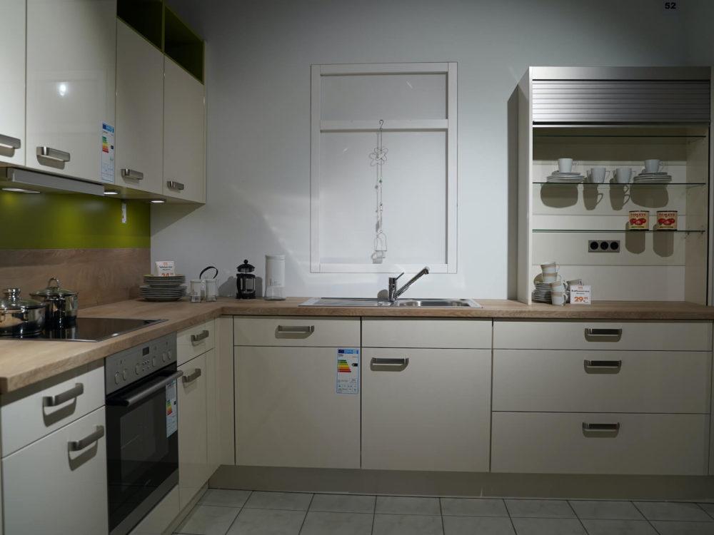klassische Küche Magnolia Lack Hochglanz L-Küche