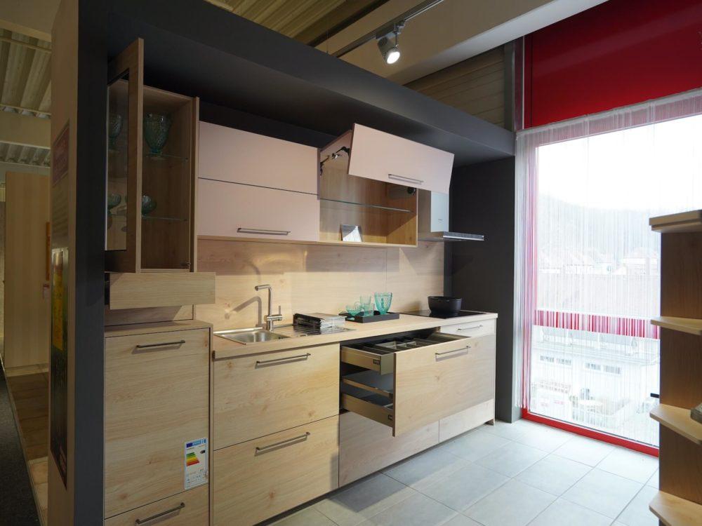 moderne Küchenzeile Fronten Asteiche Nolte