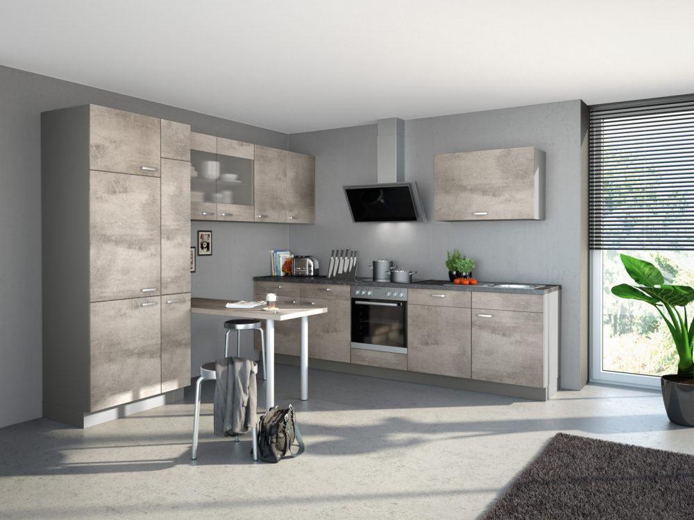 Express Beton kleine Küche Küchenzeile