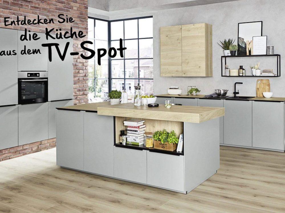 Moderne Küche papyrus grau
