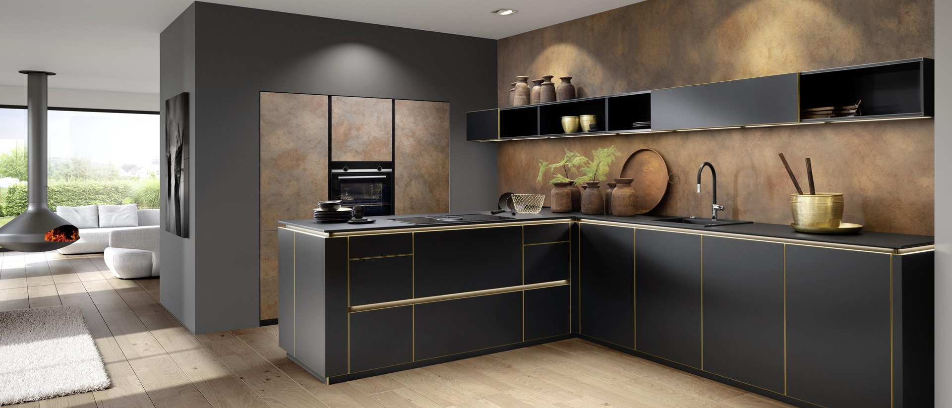 Gold Küche Design Küchen kaufen Pirna Dresden